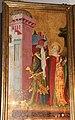 Meister francke, altare di santa barbara, amburgo 1420 circa, dalla chiesa di kalanti, 01 controversia sulle tre finestre della torre.JPG