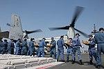 Members of the JMSDF load supplies onto an MV-22B Osprey aircraf (25936524244).jpg