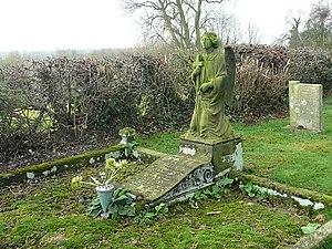 English: Memorial in the churchyard, Wychnor &...