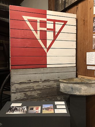 Ridgewood Ranch - Ridgewood Ranch sign on display at the Mendocino County Museum