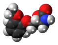 Mephenoxalone molecule spacefill.png