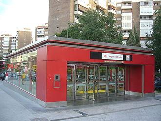Virgen del Cortijo (Madrid Metro) - Image: Metro Virgen del Cortijo