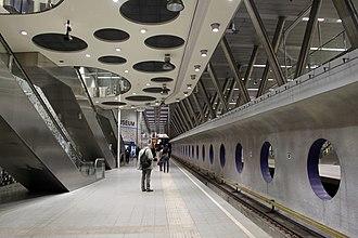 Rotterdam Metro - Wilhelminaplein metro station, Lines D and E