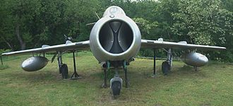 Mikoyan-Gurevich MiG-15 - Front view of a MiG-15