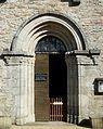 Mialet (Dordogne) église portail.JPG