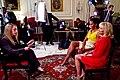 Michelle Obama and Dr. Jill Biden talk to AFPS reporter Elaine Sanchez, 2011.jpg