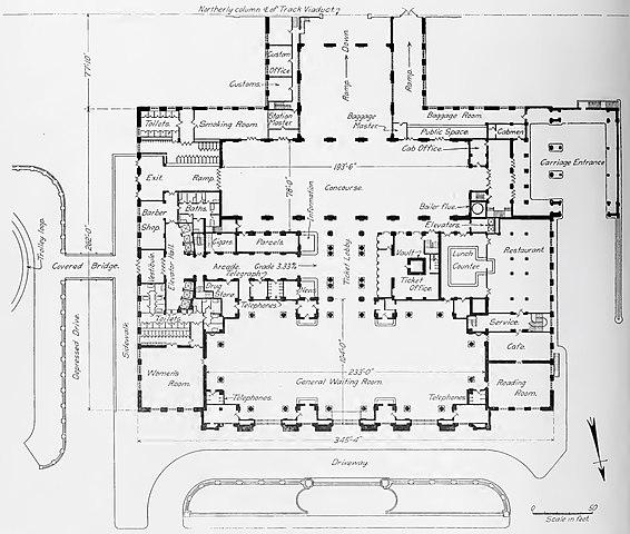 File Michigan Central Station Detroit Floor Plan Jpg Wikimedia