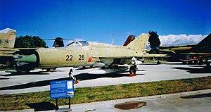Hình chiếu đứng của Mikoyan-Gurevich MiG-21.