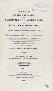 Joshua Milne British actuary