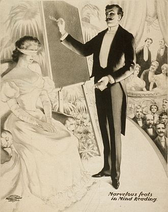 Mentalism - Theatrical poster for a mind-reading performance, 1900