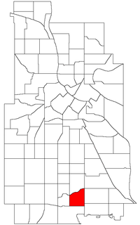 Location of Hale within the U.S. city of Minneapolis