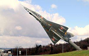 Ambérieu-en-Bugey - Representation of a Dassault Mirage III in Ambérieu-en-Bugey