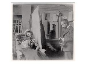 Misia Sert - Sert and Toulouse-Lautrec in the artist's studio