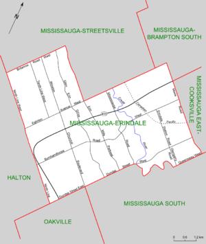Mississauga—Erindale - Map of Mississauga-Erindale