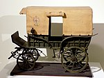 Model of postal carriage Federlija in use in Serbia from 1878.jpg