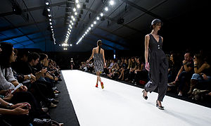 Runway (fashion) - Audience watches ramp models