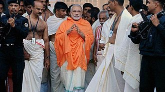 Padmanabhaswamy Temple - Prime Minister Narendra Modi at Padmanabhaswamy temple