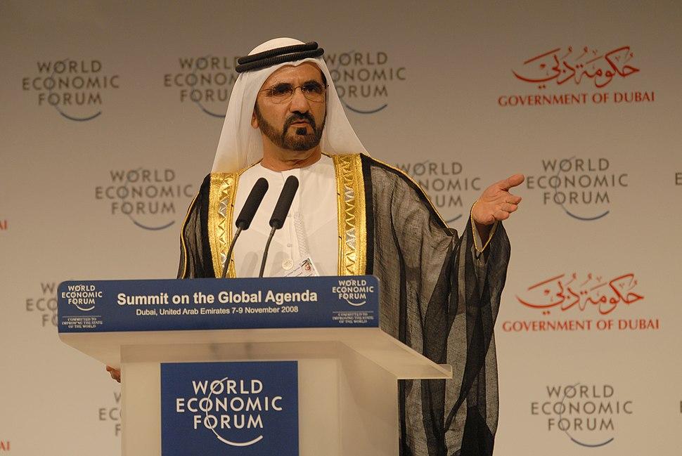 Mohammed Bin Rashid Al Maktoum at the World Economic Forum Summit on the Global Agenda 2008 2