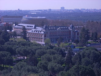 Politics of Spain - Aerial view of the Palace of Moncloa, the residence of the prime minister of Spain