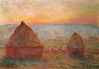 Les Meules à Giverny, soleil couchant