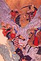 Mongol horsemen battle Jin mounted.jpg