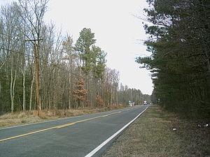 Monroe Hall, Virginia - Highway running through Monroe Hall