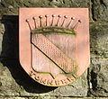 Montabaur, Rastplatz gegenüber Amtsgericht, Wappen Tonnerre.JPG