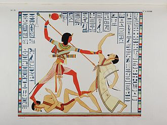 Egyptology - Hieroglyphs and depictions transcribed by Ippolito Rosellini in 1832