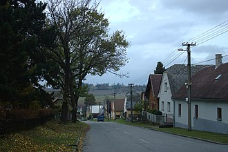 Moravice, Czech Republic - Houses by road