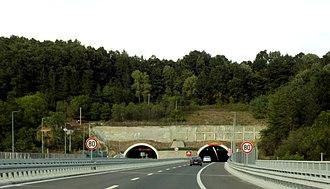 A2 motorway (Serbia) - Image: Motorway A2 (Serbia), Tunnel Savinac