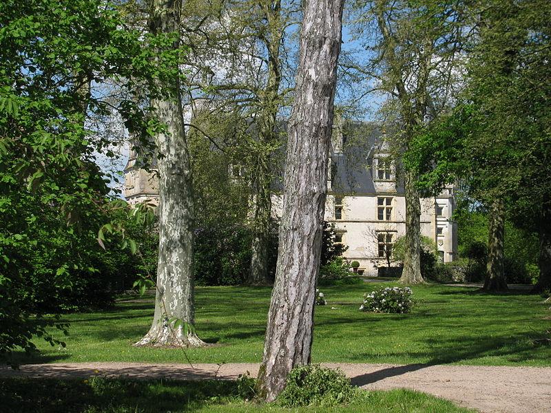 Le château de la Motte-Farchat, à Fleury-sur-Loire, Nièvre, France.