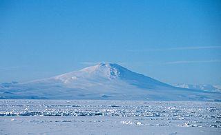 Mount Melbourne Volcano in Antarctica