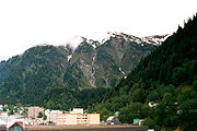 Mount Juneau behind the downtown district.