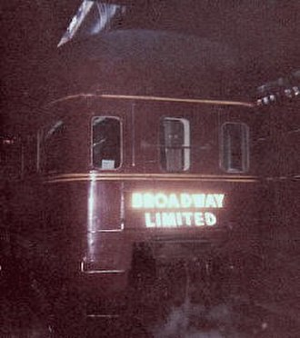 Broadway Limited - The Mountain View sleeper-buffet-lounge-observation car at Chicago's Union Station in 1963