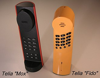 Push-button telephone - Telia Mox and Fido