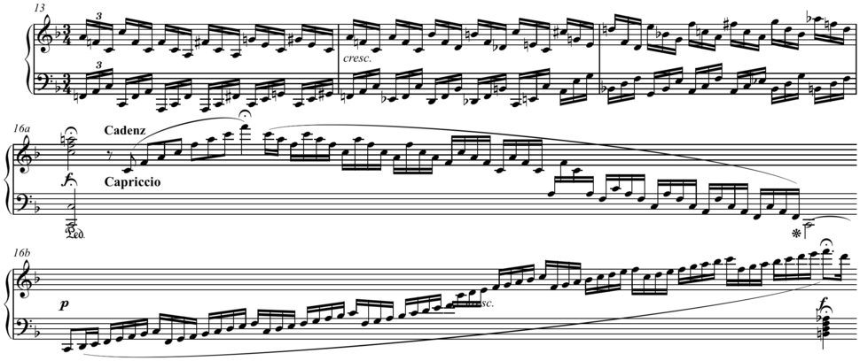 Mozart - 6 Variations on an aria from I Filosofi Immaginarii K. 398 (416e), first movement, cadenza written out
