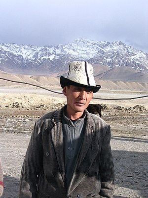 Kyrgyz people - A Kyrgyz around Murghab, in the Pamirs of Tajikistan.