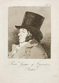 Museo del Prado - Goya - Caprichos - No. 01 - Autorretrato. Francisco Goya y Lucientes, pintor.jpg