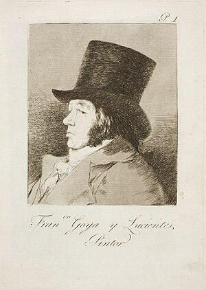 Los caprichos - Image: Museo del Prado Goya Caprichos No. 01 Autorretrato. Francisco Goya y Lucientes, pintor