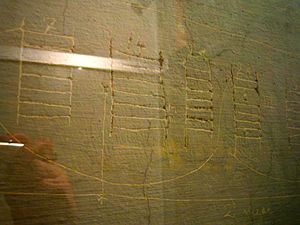 Museum of the Liberation of Rome - Graffiti in the form of a calendar