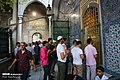 Muslims perform the Eid Al-Adha prayer at Eyup Sultan Mosque 2019-08-11 02.jpg