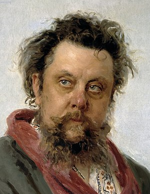 Symphony No. 14 (Shostakovich) - Ilya Repin's celebrated portrait of Mussorgsky, painted only a few days before the composer's death.