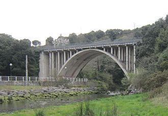 N-634 road (Spain) - N-634 bridge in Ribadedeva, Asturias