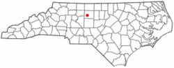 Location of Jamestown, North Carolina
