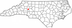 Location of Troutman, North Carolina