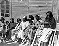 NEW IMMIGRANTS FROM YEMEN AT THE ATLIT RECEPTION CAMP. עולים מתימן במחנה העולים בעתלית.D420-145.jpg