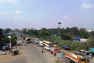 Kalamboli - The Mumbai-Chennai NH4 passes through Kalamboli
