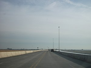 New Jersey Route 52 - The original Route 52 causeway, built in the 1930s, over Great Egg Harbor Bay between Somers Point and Ocean City, since replaced with a series of high level bridges.