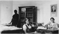 """NYA-Leflore County Mississippi library project-""""assistants in Greenwood Negro Library"""" - NARA - 195370.tif"""