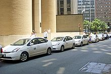 DOT fleet of Toyota Prius hybrid electric vehicles